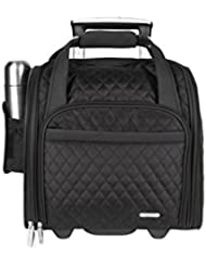 Travelon Wheeled Underseat Carry-On with Back-Up Bag, Black