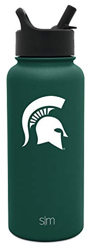 Simple Modern University Collegiate 32oz Summit Water Bottle with Straw Lid Michigan State