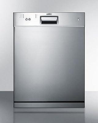 Summit Dishwasher 32.25in H x 23.5in W x 22.5in D, Stainless DW2433SSADA