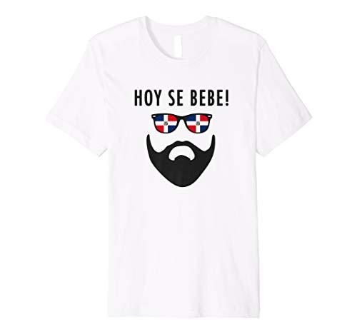 Hoy Se Bebe | Dominican Republic Flag Beard  Premium T-Shirt (Dominican Republic Flag T-shirt)