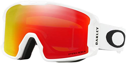 Oakley Line Miner Snow Goggle, Matte White, Medium, Prizm Torch Iridium Lens