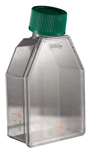 EZ-LINE T-Flasks Vented Caps, 25cm2 TC Treated T-Flask with Filter Cap, 200 per case