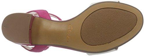 Clarks Sharna Balcony - Zapatos de pulsera Mujer Rosa (Fuchsia)