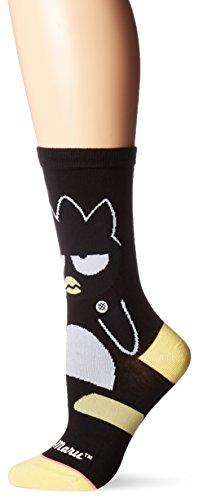 Stance Women's Sanrio Badtz-Maru Graphic Everyday Crew Sock, Black, Medium