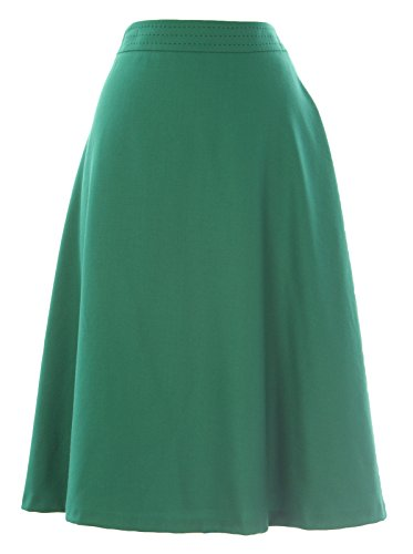 BODEN Women's Walbrook Wool Skirt US Sz 18L Castleton Green (Skirt Wool Boden)
