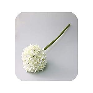 Maja Shop Large Hydrangea Artificial Silk Flowers Simulation Flower Ball Decorative Flower Branch Wedding Home Office Party Decor,White 42