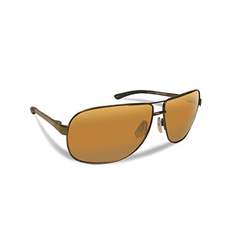 Flying Fisherman 7816CA Highlander Polarized Sunglasses, Copper Frame, Amber Lens by Flying Fisherman