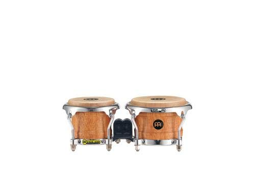 (Meinl Percussion Mini Wood Bongos Skin Heads-NOT Made in China-Super Natural Finish and Free Ride Suspension System, 2-Year Warranty (FWB100SNT-M))