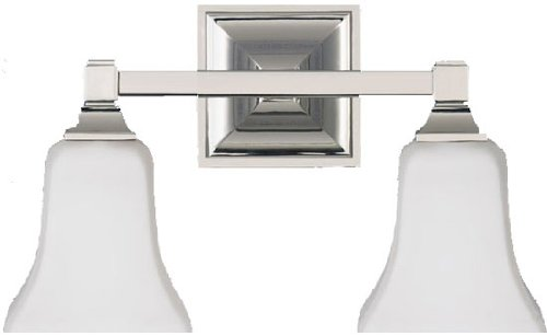 Two Light Polished Nickel Opal Etched Glass Vanity VS12402-PN