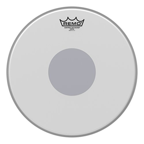 Remo Controlled Sound Coated Drum Head with Reverse Black Dot