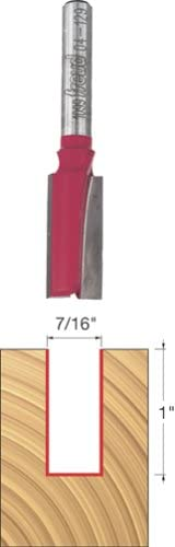 "B00004T7BI Freud 7/16"" (Dia.) Double Flute Straight Bit with 1/4"" Shank (04-129) 319YVZK9VCL"