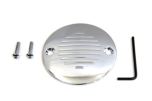 Harley Grooved Ignition System Cover 2-Hole Chrome
