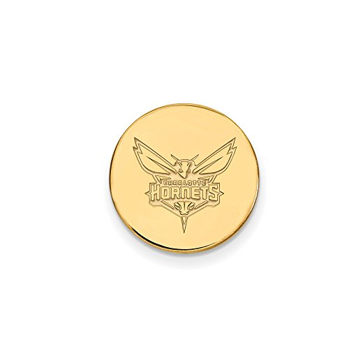 NBA Charlotte Hornets Lapel Pin in 14K Yellow Gold by LogoArt