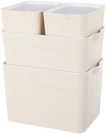 VIDOO S/M/L Größe multifunktionale Aufbewahrungsbox Kunststoff Aufbewahrungskörbe Kleidung Spielzeug Sundries Container Desktop Bücher Dateien Dokumente Organizer - Grau - S