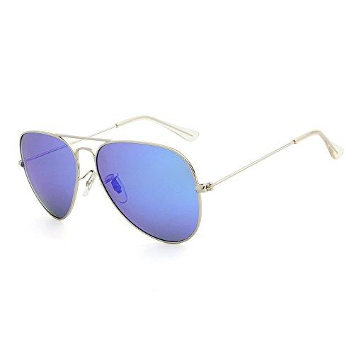 de blue Marque Vue Designer Silver Hommes Lunettes ovales Classiques Femmes Lunettes deep polarisées Oculos Aviador Soleil JCH Polarizado pour de OH5wBqT