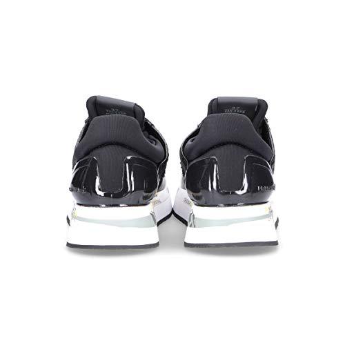 Premiata Mujer LIZ3358 Negro Cuero Zapatillas