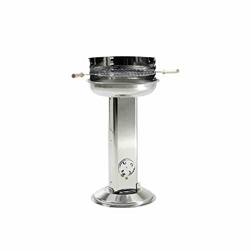 GrillChef by LANDMANN Holzkohle-Säulengrill   Verchromter Grillrost, Kohlerost emailliert   Arbeitshöhe 72,5 cm…