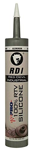 Red Devil 08165I12 08165I Industrial Grade, Aluminum, 10.1 oz, Case of 12 RD Pro RTV 100% Silicone Sealant, Pack, Piece