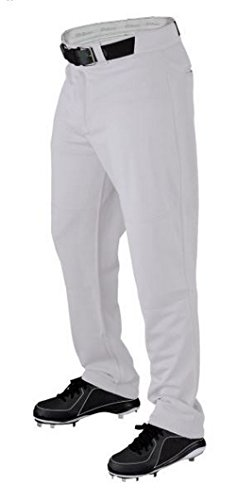 Wilson Men's P300 Relaxed Fit Warp Knit Pant Baseball Adult Pants (White, M) (Warp Knit Adult Polyester)