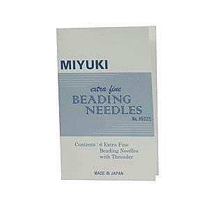Miyuki Extra Fine Beading, Needles 6 Pc + Threader - JPN156 Fine Beading