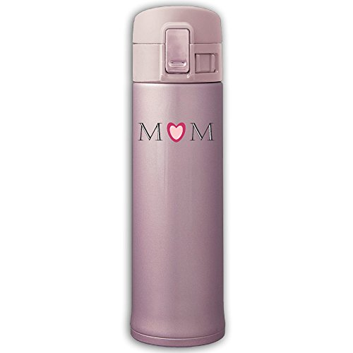 304 Stainless Steel Vacuum Insulated Leak Proof Sports Water Bottle Camping Travel Thin Thermoses 500ML Keeps Cold And Hot - Mom Logo