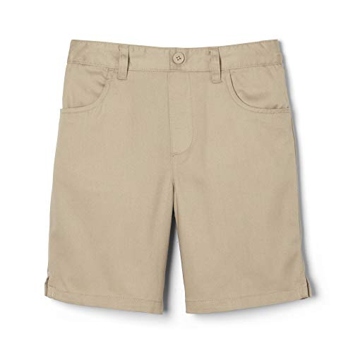 (French Toast Little Girls' Toddler Pull-On Short, Khaki, 4T)