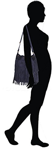 Black Leather Shoulder Women's Lae L Bag In w5EaxnqI