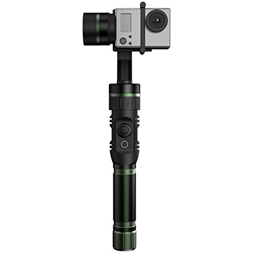 Hohem HG3 3 Axis Gimbal Stabilizer for Action Camera ( Gopro3, Gopro4, Yicam), with 360 degrees Full 3-Axis Coverage and 5-way Joystick Control. - GREEN