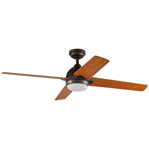 Fan Stone - Stone & Beam Modern Indoor Remote Control Ceiling Fan With Integrated LED Light - 52 x 52 x 8.94 Inches, Aged Bronze
