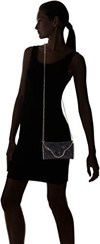 Chicca Borse 10005, Pochette da giorno Donna, Nero, 18 cm