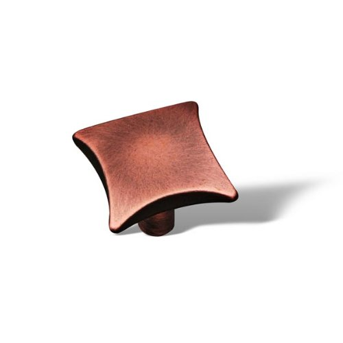 Rk International - Distressed Copper Rki Plain Knob W/ Four Curves (Copper Curve)