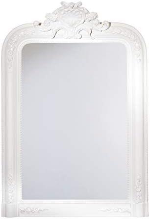 Blanc Antique Miroir Mural Shabby Chic Français salon couloir salle de Bain Miroir