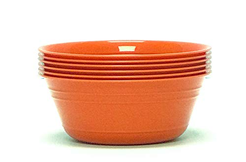 Mintra Home Snack Bowls Set (Small 6pk, 20 ounces, Orange) for Halloween, Kids, Party, Serving, Everyday Use, Birthday Parties, Cereal, Salads, Side Dishes, Candy, Dessert, BPA free, Dishwasher