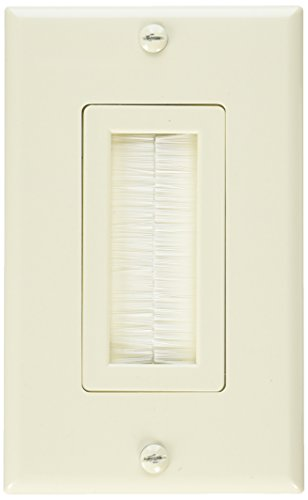 Vanco VAN-120815X Decor Style Brush Bulk Cable Wall Plates - Single Almond (Plate Style Wall)