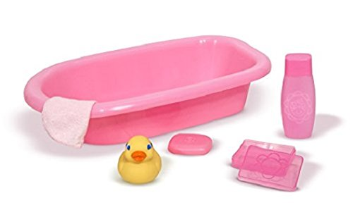 (Melissa & Doug Mine to Love Baby Doll Bathtub and Accessories Set (6 pcs))