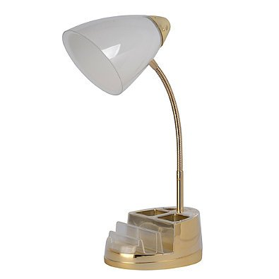Incroyable USB Desk Lamp Equip Your Space Tablet Organizer Outlet (Gold)
