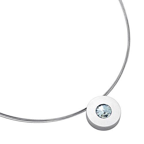 Heideman Halskette Lumen | Damen-Kette mit Anhänger | Auswechselbarer Swarovski-Kristall | Edelstahlschmuck | Hautfreundlicher Halsschmuck | Edelstahl