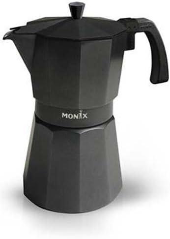 Monix VitroMax Black 12, Negro, Aluminio - Cafetera italiana: Amazon.es: Hogar