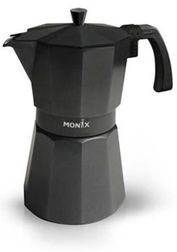 Monix VitroMax Black 12, Negro, Aluminio - Cafetera italiana