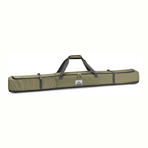 Bag Ski Rolling (High Sierra Single Ski Bag, Moss/Quilted Moss/Raven)
