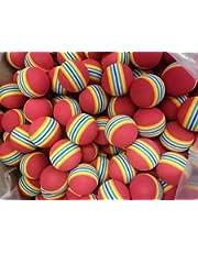 Box of 50 foam rainbow JL golf practice balls