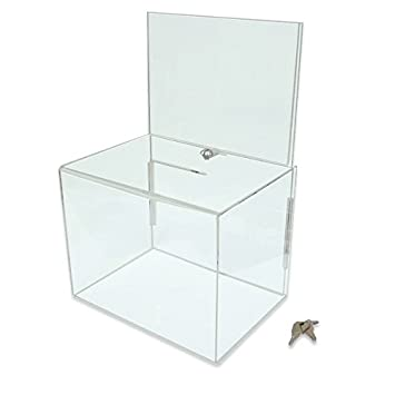 Displaysense Clear Acrylic Ballot Box With Display Header Large  sc 1 st  Amazon UK & Displaysense Clear Acrylic Ballot Box With Display Header Large ... Aboutintivar.Com