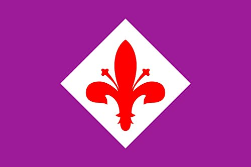 Fiorentina Football - magFlags Large Flag ACF Fiorentina Football Club | Landscape Flag | 1.35m² | 14.5sqft | 90x150cm | 3x5ft - 100% Made in Germany - Long Lasting Outdoor Flag