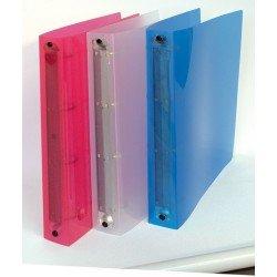 Archivador PPL 4 anillas F. to A4 D.3 Fijación colores ass: Amazon.es: Oficina y papelería