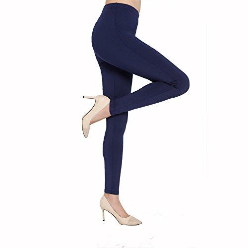 CELEISITE Women\'s Popular Basic Solid Spandex Full Length Ultra