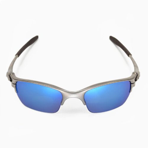 New Walleva Polarized Ice Blue + Fire Red Lenses For Oakley Half X
