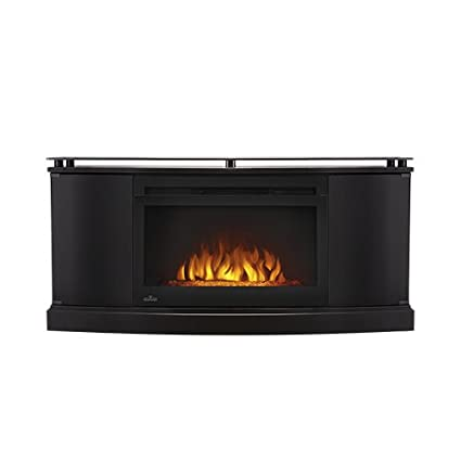 Amazon Com Napoleon Anya Electric Fireplace Tv Stand In Gloss Black