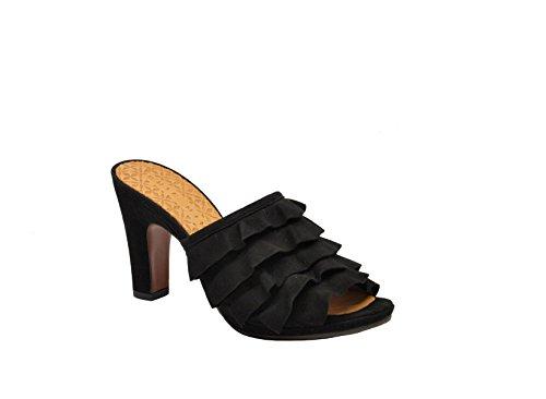 Sandales Pour Femmes Chie Mihara Abejiaantenegro Black Suede