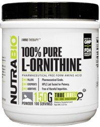 NutraBio 100% Pure L-Ornithine Powder - 150 GRAMS