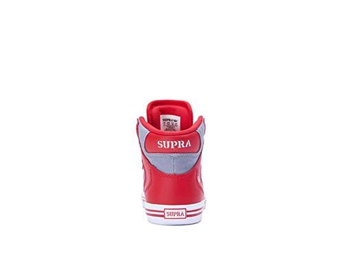 S18091 Supra White Red Skytop uomo Sneaker Grey Dark Hw5A6